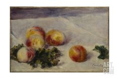 Still Life with Peaches on a Table, C.1890-1918 Giclee Print by Pierre-Auguste Renoir at Art.com