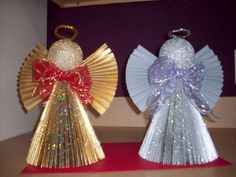 Items similar to Angel Decoration, Folded Book Angel in Gold Christmas decorations, Christmas mantle, Angel Christmas Decor, MADE TO ORDER on Etsy Christmas Bulbs, Christmas Decorations, Holiday Decor, Book Folding, Crafty Craft, Book Design, Book Angel, Origami, Diy And Crafts