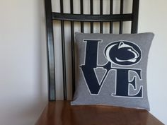 Penn State Recycled T-Shirt Pillow Cover $10
