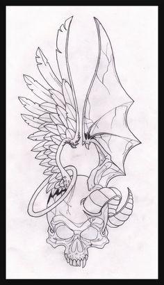 two face angel demon by maplr20.deviantart.com on @DeviantArt