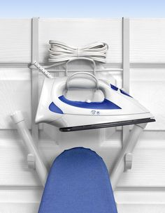 "Features:  -Stores your ""T"" or ""Y"" style ironing board.  -Keeps your iron, ironing supplies and ironing board in one convenient place.  -Steel bracket fits doors up to 1.6"" thick.  -Conveniently mount"