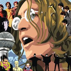 The Beatles - John Lennon. John Lennon, Norman Rockwell, Great Bands, Cool Bands, The Rock, Rock And Roll, Beatles Art, Beatles Poster, The Beatles