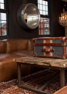 Watson Union Jack trunk with Slabby group sofa