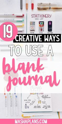 Here are 19 creative ways to use a blank notebook. Creative journaling, bullet journals, meals log and many more. There are so many creative ways to use a blank notebook or journal. Making A Bullet Journal, Bullet Journal Hacks, Bullet Journal How To Start A, Bullet Journal Layout, Bullet Journal Ideas Pages, Bullet Journal Inspiration, Journal Pages, Bullet Journals, Journal Writing Prompts