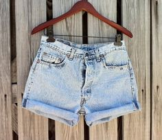 ACID WASH Vintage LEVI 501 Button Fly Jean Shorts  HIGH by TomieHarlene, $23.50