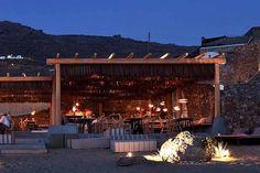 Studio-K Cycladic architecture style Alemagou restaurant in Mykonos