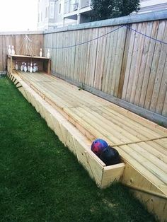 Build your own bowling lane - DIY Backyard Ideas Your Whole Family will Love - Photos
