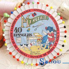 フランス SAJOU カラフルガラスビーズ まち針セット【PINS-3 】 - フランス雑貨・輸入雑貨『Zakka MiniMini』http://zakka-minimini.com/?pid=36869132