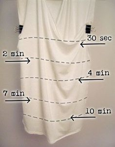 As you can see with this handy chart, an ombré dyed t-shirt will take you less than 20 minutes. | The 52 Easiest And Quickest DIY Projects Of All Time