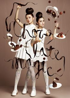 everything in these photos, liquid typography included, is part of a single photograph by NAM for Harbour City Chocolate Trail Chocolate Art, Magic Chocolate, Chocolate Fashion, Chocolate Humor, Chocolate Pictures, Chocolate Heaven, Chocolate Factory, Chocolate Treats, Delicious Chocolate
