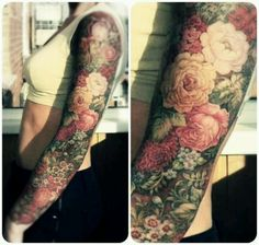 I'm in tattoo love!!! I wouldn't do the full sleeve, but the print and colors are absolutely exquisite!!