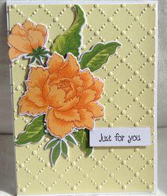 Peony bouquet stamp from Altenew