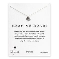 hear me roar! royal lion necklace, sterling silver $48
