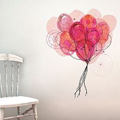 Carnival Balloons Wall Decal by Little Sticker Boy