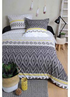 Parure de Couette Motifs Motifs, Comforters, Blanket, Bedroom, Cousin, Sombre, Triangles, Collection, Products