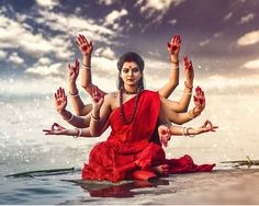 Happy Navratri to all devotees of Ma Durga. May you have the best of time, celebrations and success in life this year. Indian Goddess Kali, Goddess Art, Durga Goddess, Indian Gods, Shiva Linga, Shiva Shakti, Rudra Shiva, Maa Durga Image, Durga Ji