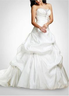 LACE BRIDESMAID PARTY BALL EVENING GOWN IVORY WHITE FORMAL PROM FASHION STYLE TAFFETA STRAPLESS WEDDING DRESS