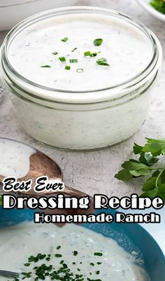 These are the best homemade ranch recipes on the internet. It is based on buttermilk and uses an amazing combination of flavorful spices. Our ranch is a thinner sauce and more similar to what you'd find in a restaurant. It tastes better than Hidden Valley Ranch Dressing or anything out of a bottle from the grocery store and can be customized to your family's tastes. Easy Dinner Recipes, Easy Meals, Easy Stuffed Peppers, Best Brownie Recipe, Easy Christmas Cookie Recipes, Ranch Recipe, Homemade Ranch, Homemade Spices, Fried Chicken Recipes