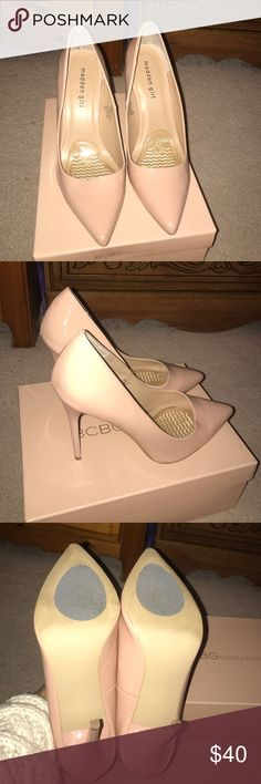 Madden Girl Blush Nude Heels Worn less than 10x. The perfect nude shoe. Matches with almost everything! Has skid protection on bottom for anti slippage and extra gel soles inside. Madden Girl Shoes Heels
