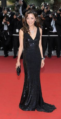 "Michelle Yeoh in Roberto Cavalli at the ""Visage"" premiere (2009)"