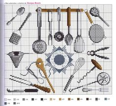 ru / Фото - Agenda 2012 - Mongia tools of the trade Cross Stitch Kitchen, Cross Stitch Love, Cross Stitch Charts, Cross Stitch Designs, Cross Stitch Patterns, Cross Stitching, Cross Stitch Embroidery, Embroidery Patterns, Diy Broderie