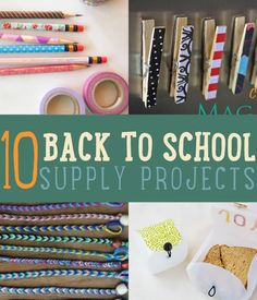 Easy back to School DIYs that you can do with your kids. Learn how to make tote bags, laptop sleeves, locker accessories, back to school outfits and more.