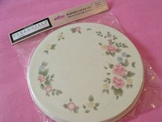 "NIB Pfaltzgraff Tea Rose Set 4 Electric Range Burner Covers 2 Lrg 10"" 2 Med 8"""