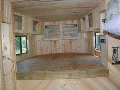 How to build living quarters in a horse trailer.
