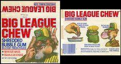 Amurol-Wrigley - Big League Chew - shredded bubble gum pouch package - 1980
