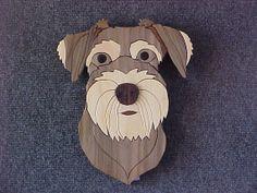 Items similar to Dog Schnauzer Intarsia on Etsy Intarsia Wood Patterns, Eyeglass Holder, Schnauzers, Unique Art, Natural Wood, Free Pattern, Art Pieces, Dogs, Handmade