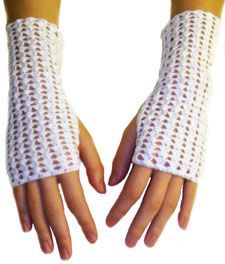 Crochet pattern: shell lace fingerless gloves