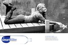 I think Smart Water is silly and overpriced, but I love the advertising.
