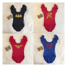 Instagram @dailythreads_  Our SUPERHERO inspired leotards are NOW AVAILABLE in shop!✨ **Free shipping on orders $40+ with code: SHIPFREE!! TheDailyThreads.etsy.com #Superhero #hero #batgirl #superman #marvel #superwoman #marvel #batman #robin #dancer #dancers #ballet #croptop #leotard #local #costume #besties