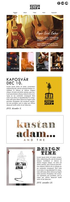Music webpage, webdesign plan  Kustan Adam