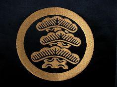 Woven Silk Japanese Family Crest