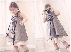 umm, that will be my future daughter, haha. (toggle pinafore - and ruffly petticoat)