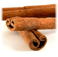 Cinnamon can aid in regulating the activity of insulin,and so help in blood sugar control.  Cinnamon tea  Cinnamon makes a great tasting tea alone or added to almost any herbal tea blend for it's spicy, warm properties. Use organic cinnamon chips or sticks for best results, powder is fine as long as it is not too old. Cinnamon Chips  Ingredients: Cinnamon *  Decoction :One teaspoon of small chips per 1 cup water, or break up a small to medium stick per 2 cups water, simmer at least ten min