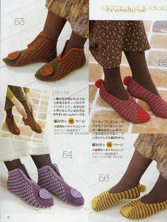 Crochet slippers ♥LCB♥ with diagram Crochet Sandals, Knitted Slippers, Slipper Socks, Crochet Slippers, Crochet Woman, Knit Crochet, Crochet Hats, Woolen Socks, Scarf Hat