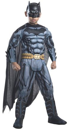 Costumes! Batman Deluxe Dawn of Justice 3D Muscle Costume Set Child #RU #costume