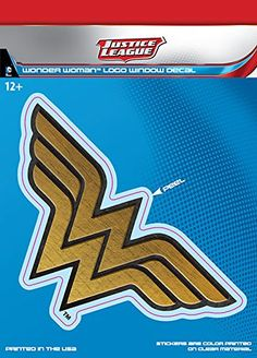 DC Comics ST DCJL WWLOGO1 Car Window Decal DC Justice League Dimensional Wonder Woman Logo ** Learn more by visiting the image link.Note:It is affiliate link to Amazon.