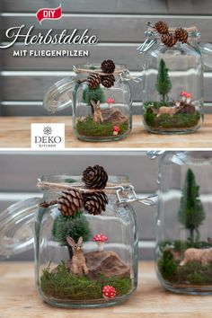 DIY: make pretty autumn decorations with toadstools - With autumn mushrooms made of modeling clay, you can easily make beautiful autumn decorations yours - Christmas Crib Ideas, Dollar Tree Christmas, Plaid Christmas, Winter Christmas, Christmas Decorations, Christmas Ornaments, Holiday Decor, Autumn Decorations, Deco Floral