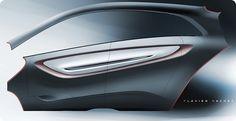 Tata Megapixel Concept - Door panel Design Sketch - Car Body Design