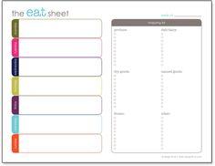 Free Printable Menu Planner and Shopping List