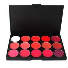 15 Color Makeup Cosmetic Lip Gloss Lipstick Palette Set(BICP021208)