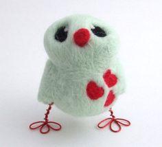 Cute little bird - love the red wire feet!
