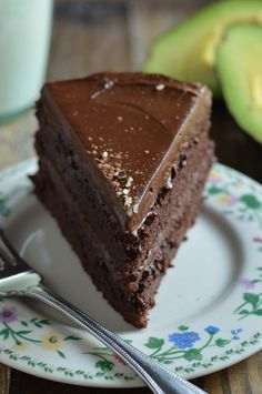 Insanely Fudgy Chocolate Beet Cake with Chocolate Avocado Frosting. Vegan and gluten-free