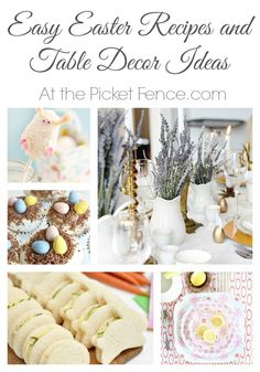 Easy Easter recipes and table decor ideas