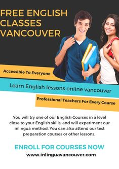 Are you now in Vancouver, Canada? Do you plan to come to Canada before choosing a language school? Then try out our language school and English courses, without any obligation, in a FREE Trial Lesson. English Lessons Online, Free English Classes, English Study, Learn English, Home Tutors, English Course, Language School, Online Tutoring, Vancouver