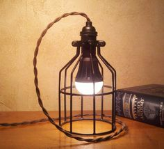 Retro Industrial Desk Lamp or Pendant Light. Old meets new.