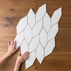 This is one of our larger specialty shapes that we call Picket. It can be set in this braid-like pattern (which we love), as well as vertically and horizontally. Where would you install this shape?